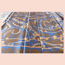 Vintage Free Form Paisley Long Silk Scarf France
