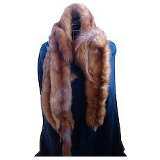 Red Fox Fur Wrap Scarf Shawl of 5 Full Body Pelts J.J. HAGGARTY Los Angeles-Beverly Hills