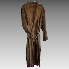 Vintage Men's Silk Robe / Dressing Gown Size LRG – X LRG