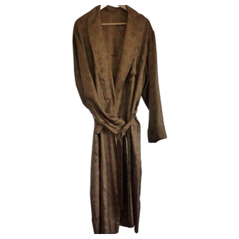 Vintage Men's Silk Robe / Dressing Gown Size LRG – X LRG