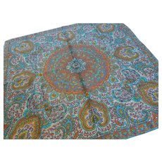Vintage Silk Paisley Scarf France