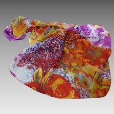 Susan Graver Printed Sheer Chiffon Large Scarf or Wrap