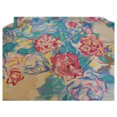 Beautiful Ginnie Johansen Silk Chiffon Scarf