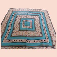 Vintage Anne Klein Silk Scarf Southwestern Color Palette