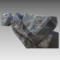 Long Silk Paisley Scarf France
