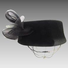 Vintage Geo. W Bollman Black Felt Hat