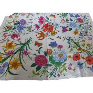 Italian Silk Scarf 35 Inch Italy