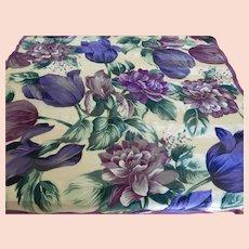Adrienne Vittadini  Silk Flower Scarf 35 Inch