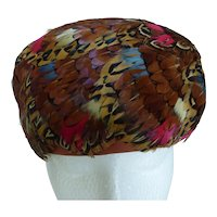 Vintage Phyllis of New York Exotic Feather Hat