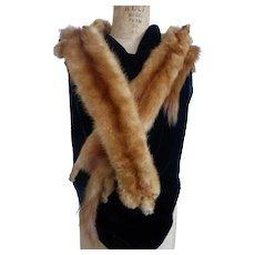 Rich Red Fox Fur Stole Wrap Shrug Collar of 4 Full Body Pelts