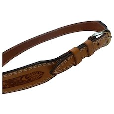 Vintage Nocona Tooled Leather Western Belt – 34 MINT