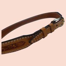 Vintage Nocona Tooled Leather Western Belt – 34 MINT