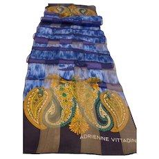 Gorgeous Adrienne Vittadini Long Silk Scarf MINT