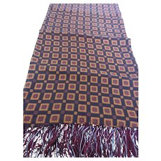 Striking 1940's Men's Neck Scarf Opera Scarf