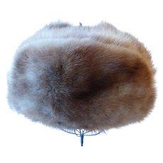 Vintage Natural Mink Fur Trapper Hat