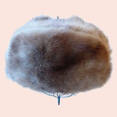 Vintage Natural Mink Fur Trapper Hat