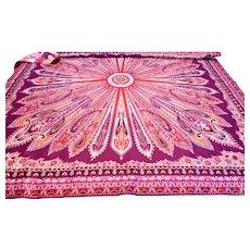Vintage Silk Twill Scarf France 35 Inch