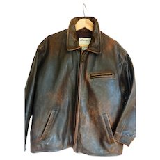 Vintage Eddie Bauer Leather Jacket Women's Large