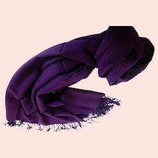 Vintage Pashmina Cashmere Silk Shawl Wrap Scarf MINT