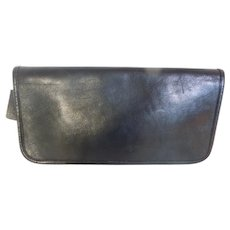 Coach Bonnie Cashin Black Leather Slim Clutch Pouch Bag New York City