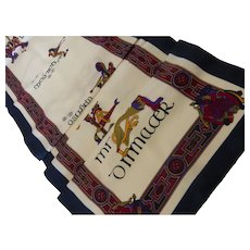Silk Twill Scarf 'The Book of Kells' Scotland