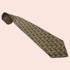 Salvadore Ferragamo 'Golfers' Silk Tie Necktie