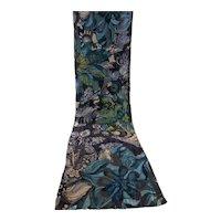 Long Silk Cut Velvet Scarf France