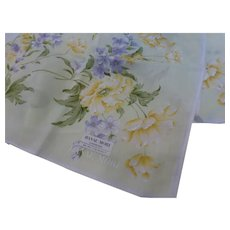 Hanae Mori Hand Painted Handkerchief Neckerchief