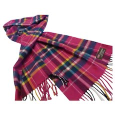 Long Cashmere Scarf Made in Scotland MINT