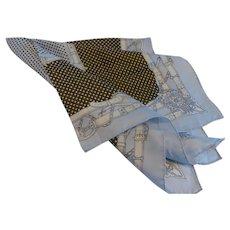 Vintage Silk Twill Scarf France 31 Inch