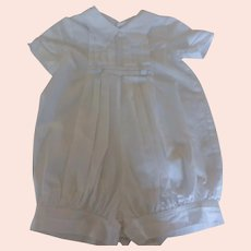 Boy's Christening Baptism Romper by One Small Child 100% Cotton - 6 Months