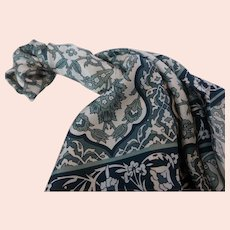 Fabulous Nicole Miller Silk Twill Scarf 35 Inch