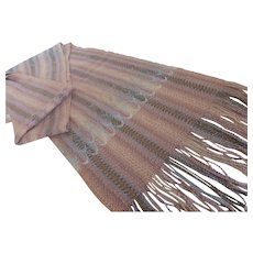 Jones Limited Hand Woven Raw Silk Shawl Scarf Wrap