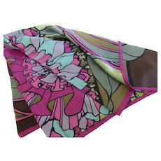 Fine French Silk Scarf 35 Inch France