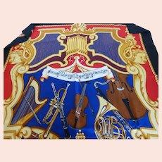 Seattle Symphony Silk Twill Scarf Swiss Silk Co  Musical Motif