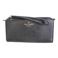 Kate Spade New York Wallet Wristlet Black Leather MINT