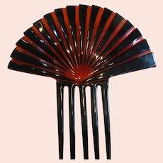 Ornamental Celluloid Hair Comb Japan