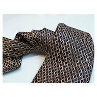 Vintage JoS A Bank Silk Necktie Italy