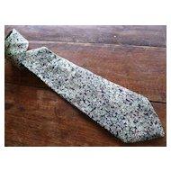 Vintage Oscar de la Renta Silk Necktie 58 Inches