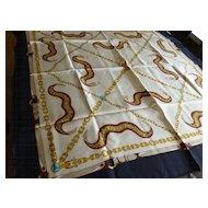 "Vintage Italian Silk Scarf 35"""