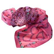 Vintage 1960's Pink Paisley Scarf