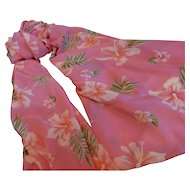 Pineapple Moon Wrap / Sarong  Pareo /Cover-up Hibiscus Design