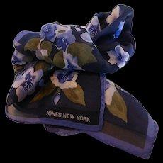 Vintage Jones New York Silk Scarf