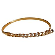 Vintage Stretch Belt with Crystal Rhinestone Front Buckle