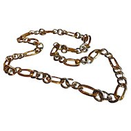 Vintage Bozari Gold and Silver Tone Chain Link Belt - Italy