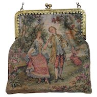 Antique French Aubusson Tapestry Purse