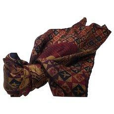 Vintage Silk Twill Scarf France
