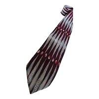 Vintage Pierre Balmain Couture Silk Necktie