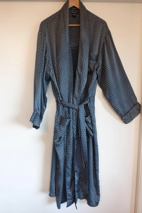Vintage Men\'s Intimo Silk Dressing Gown / Lounge Robe Size LARGE ...