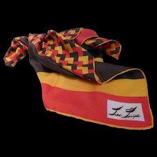 Vintage Fiery Jaleh & Joseph Silk Twill Scarf
